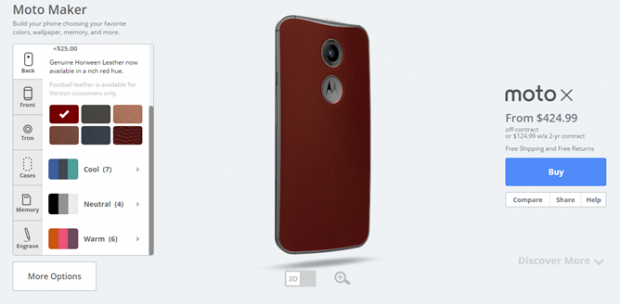 MotoX Red leather