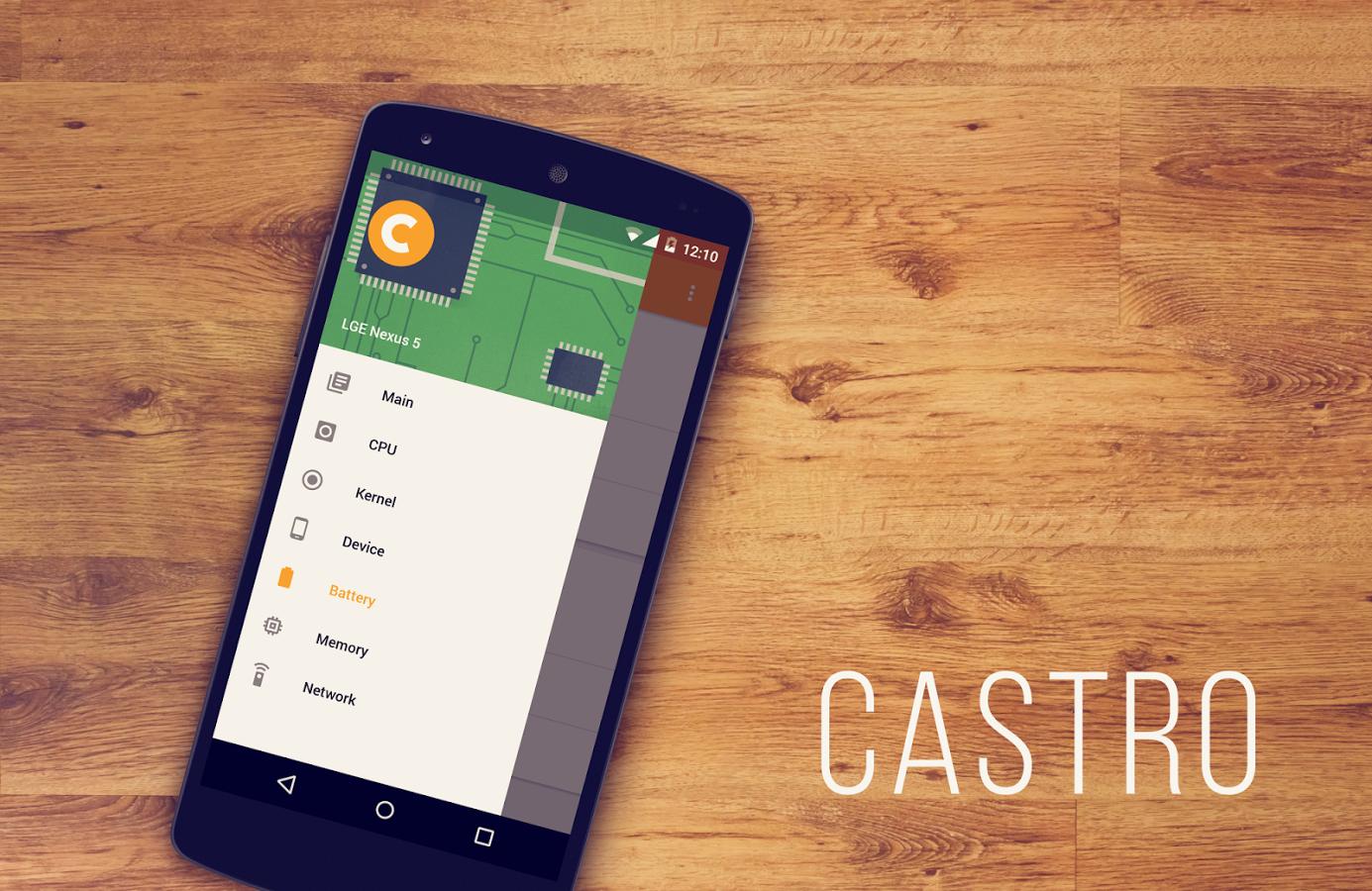 Castro disponibile sul Play Store, l'app perfetta per monitorare lo stato del sistema
