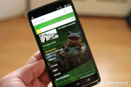 Bing revampled homepage android