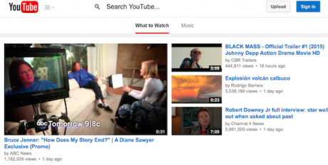 Youtube search box experiment 2
