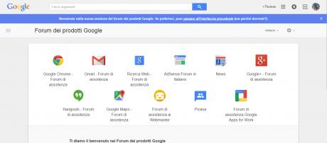 Forum prodotti google material