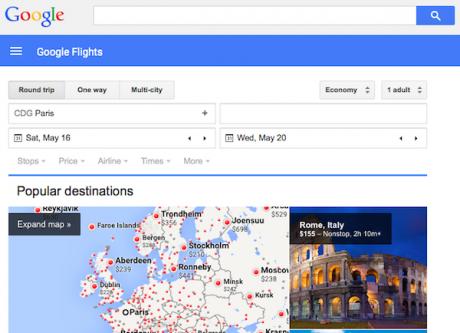 Google flights material 1