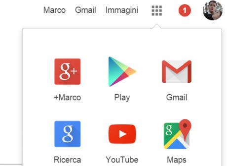 Nuova barra di google plus