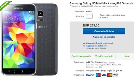 S5 mini offerta
