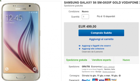 S6 a 49 euro