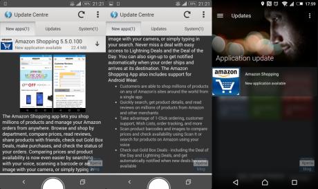 Amazon su xperia update center