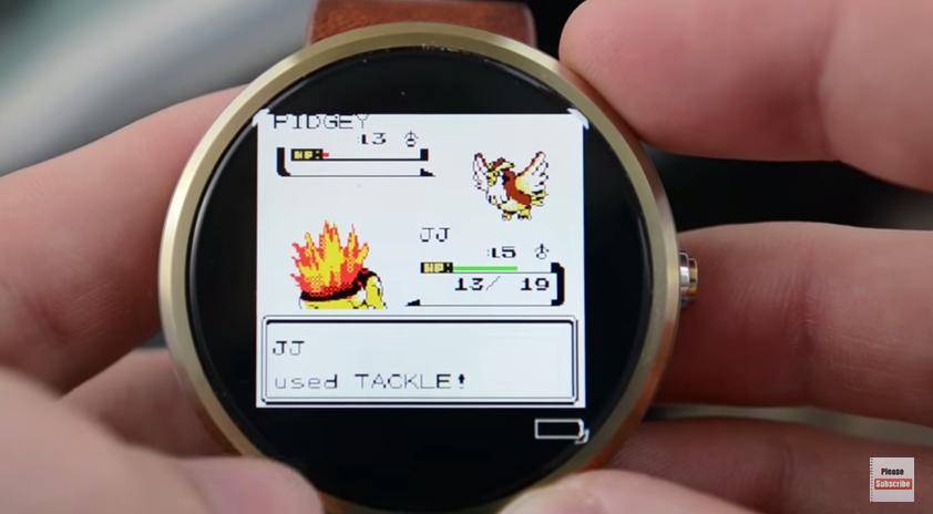 Giocare a Pokémon su Motorola Moto 360? E' possibile! (video)