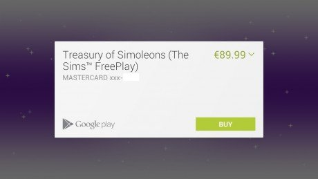 Google play android in app purchases