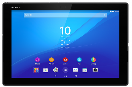Xperia z4 tablet black front 800x626