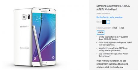 Galaxy Note 5 128 GB AA 840x427