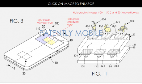 Samsung Smartphone Holographic Display Patent 02