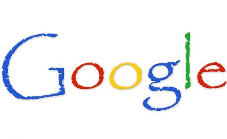 Google logo in papyrus font