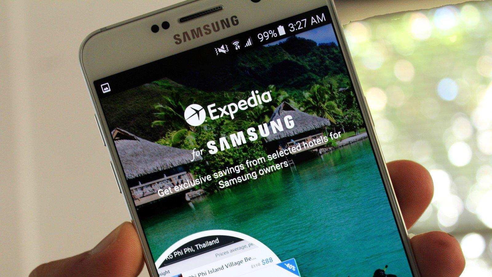Expedia e Samsung insieme per un'app esclusiva