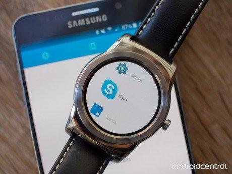 Skype android wear lg watch urbane
