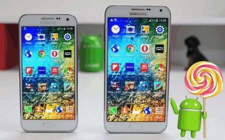 Samsung Galaxy E7 lollipop