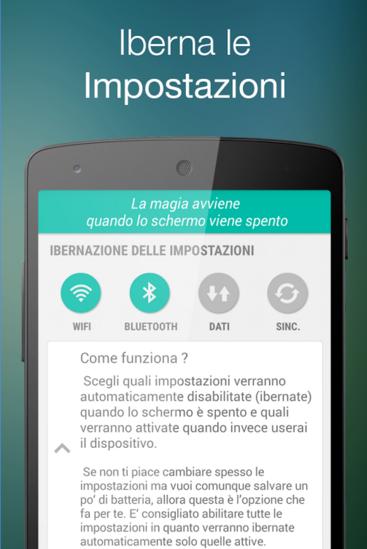 Ibernare impostazioni Android