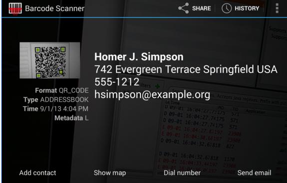 Riconoscere QR android