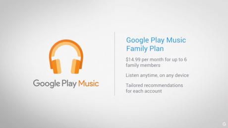Google play music family