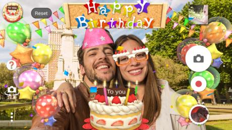 Sony Compleanno Effetto fotocamera