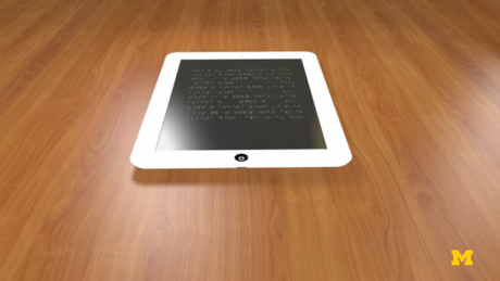 Braille tablet