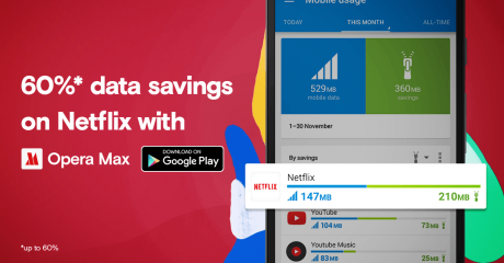 Netflix everywhere save 60 percent mobile data with free app opera max