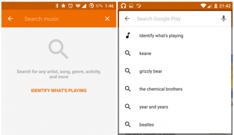 New search google play music