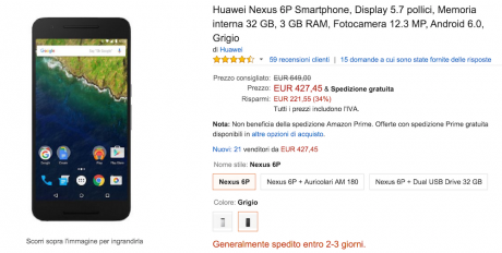 Nexus 6p 427 amazon