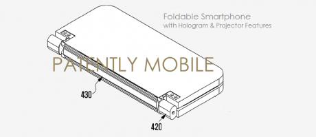 Samsung foldable projector smartphone