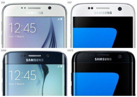 Galaxy S6 S6 vs S7 S7 Edge comparison 1