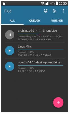 Flud – Torrent Downloader è utile per scaricare i torrent su