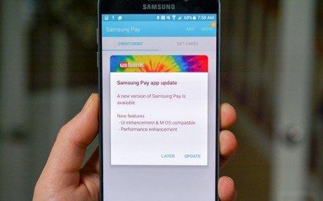 Samsung pay update