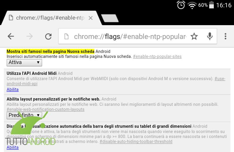 Chrome mostra i siti famosi nella pagina nuova scheda for Siti architetti famosi