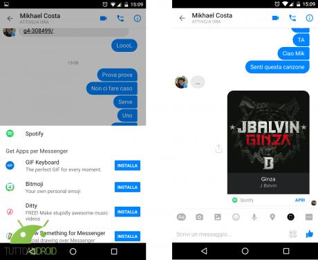 Facebook Messenger Spotify e1457031000621