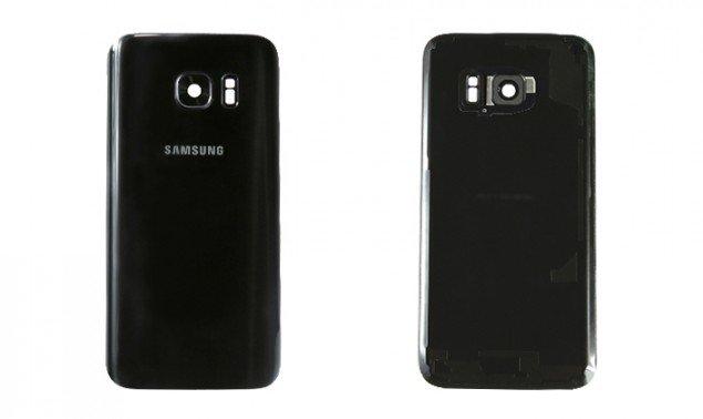 La parte posteriore di Samsung Galaxy S7 e Galaxy S7 Edge messa a confronto.