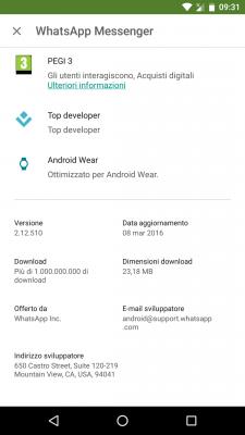 Whatsapp Android N