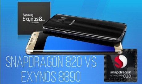 Snapdragon 820 vs Exynos 8890 head