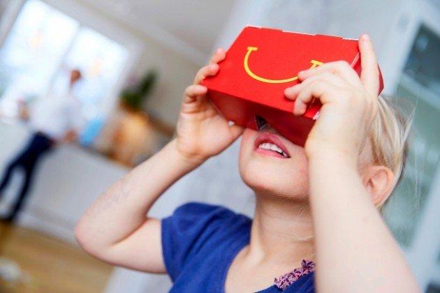Risultati immagini per mcdonald's happy meal realtà aumentata