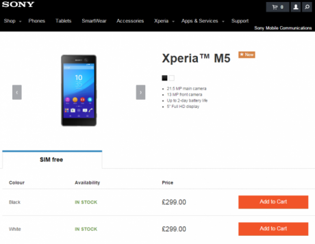 XPERIA m5 sONY mOBILE sTORE 640x497