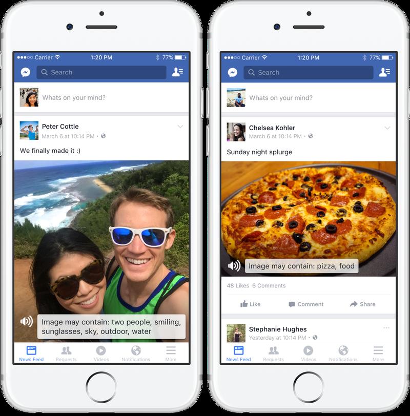 Facebook rende le immagini accessibili per gli ipovedenti