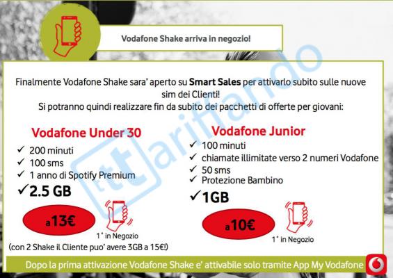 Vodafone Shake in negozio