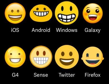 emoji diverse versioni