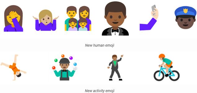 nuovi emoji android n