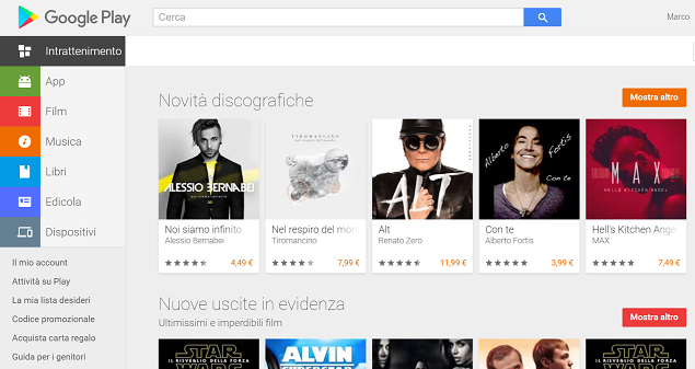 nuovo play store web