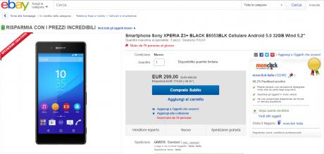 Sony xperia z3 plus offerta TA
