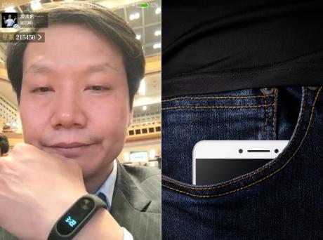 Xiaomi max e mi band 2