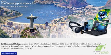 Concorso Con Samsung puoi volare a Rio 2016