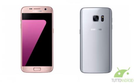 Samsung Galaxy S7 Versioni Silver Pink e1463405398539