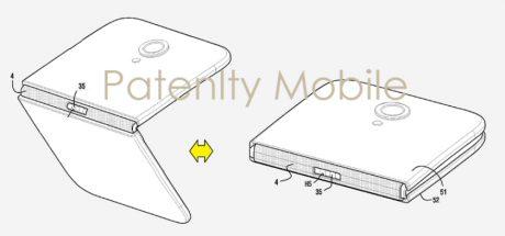 brevetto Samsung smartphone pieghevole