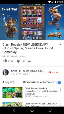 Youtube riproduzione remota