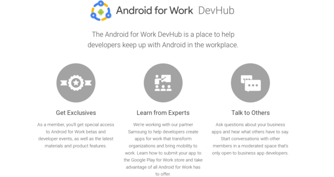 android for work devhub